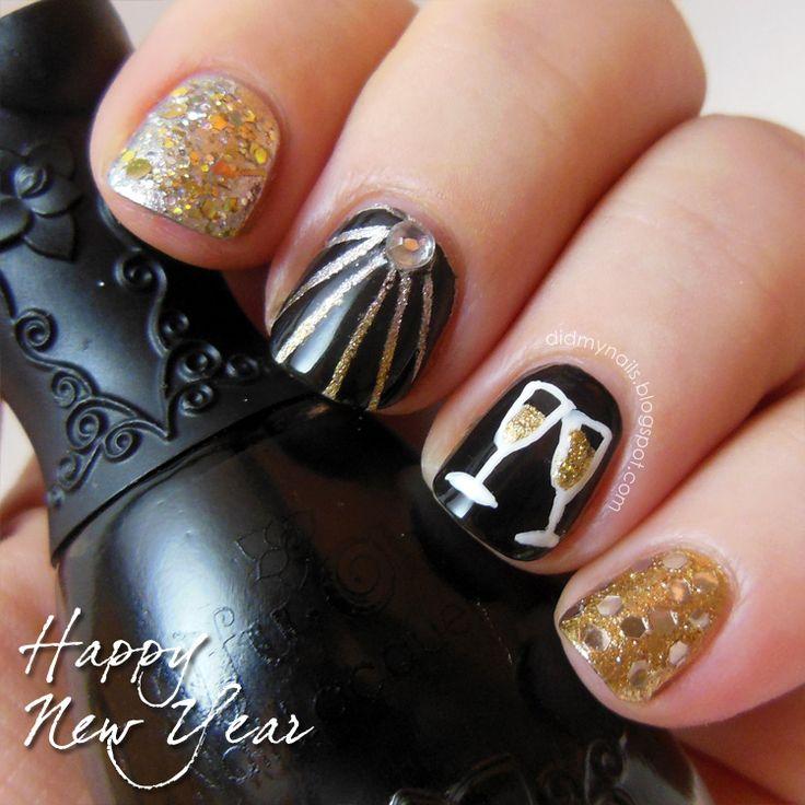 Fancy New Years Nail Designs 2017 Ornament - Nail Art Design Ideas ...