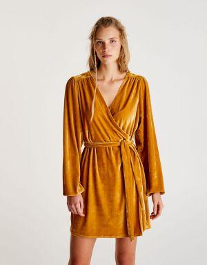 Aksamitna Sukienka W Kimonowym Stylu Pull&Brar 139,00 Zł