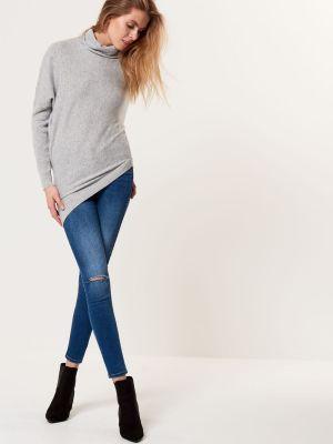 Asymetryczny Sweter Z Golfem Mohito 99,99 Zł