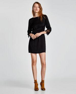 Czarna Sukienka Zara 139,00 Zł