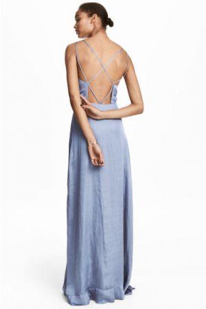 Długa Sukienka Z Szyfonu  H&M 229,00 Zł