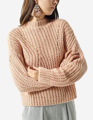 Krótki Sweter Wykonany Perłowym ściegiem Stradivarius 89,,90 Zł