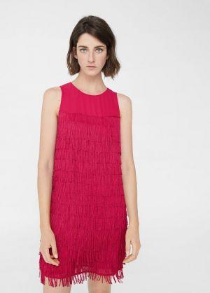 Lejąca Sukienka Z Frędzlami Mango 160,99 Zł
