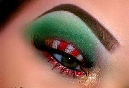 Oryginalny Makijaż Na Święta Pinterest (10)