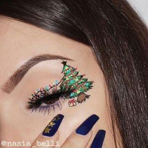 Oryginalny Makijaż Na Święta Pinterest (9)