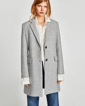 Płaszcz Z Poduszkami Zara 449,00 Zł