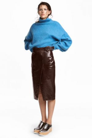Skórzana Spódnica H&M 599,00 Zł