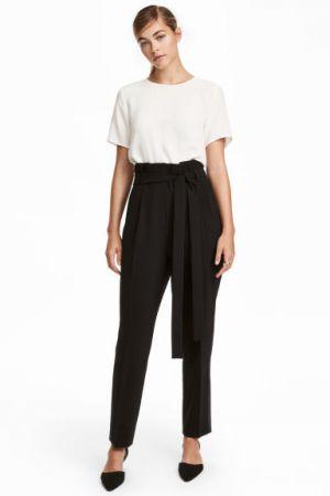 Spodnie Smokingowe Z Paskiem H&M 139,90 Zł