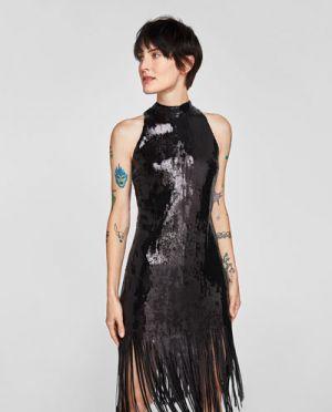 Sukienka Na Sylwestra Halter Zara 199,00 Zł