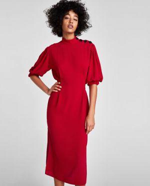 Sukienka Na Sylwestra Z Guzikami Zara 199,00 Zł