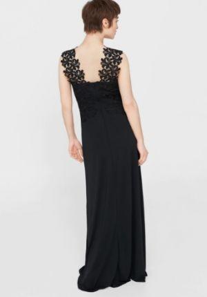 Sukienka Z Gipiurową Aplikacją Mango 449,90 Zł