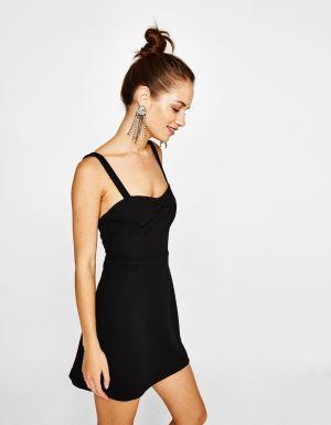 Sukienka Z Krepy Bershka 99,90 Zł