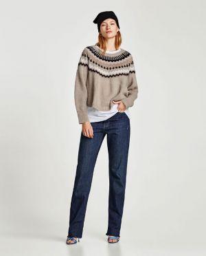 Sweter żakardowy Zara 249, 00 Zł