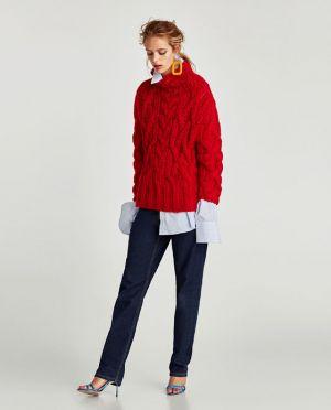 Sweter Oversize Warkocze Zara 139,00 Zł