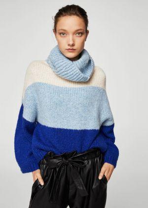 Sweter W Pasy Z Golfem Mango 159,00 Zł