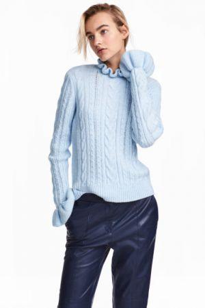 Sweter W Warkoczowy Splot H&M 129,00 Zł