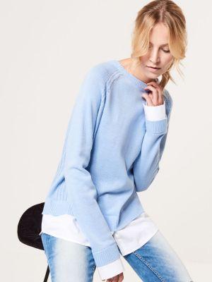 Sweter Z Elementami Koszuli Z Domieszką Wełny Mohito 119,99 Zł