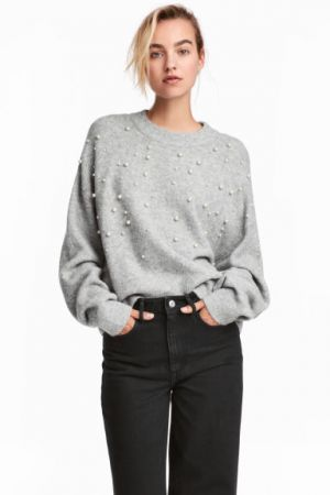 Sweter Z Koralikami H&M 149,00 Zł