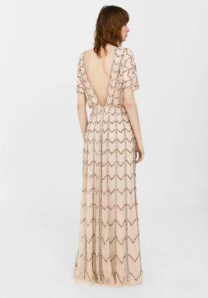 Tiulowa Sukienka Z Cekinami Mango 699,90 Zł