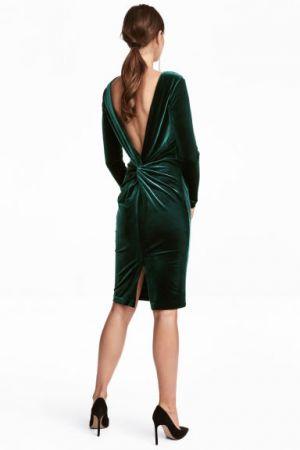 Welurowa Sukienka Na Sylwestra H&M 199,00 Zł