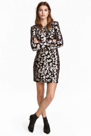 Welurowa Sukienka Z Cekinami H&M 229,00 Zł