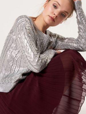 Woskowany Sweter Z Warkoczowym Splotem Mohito 99,99 Zł