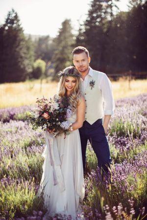 Lawendowa sesja ślubna