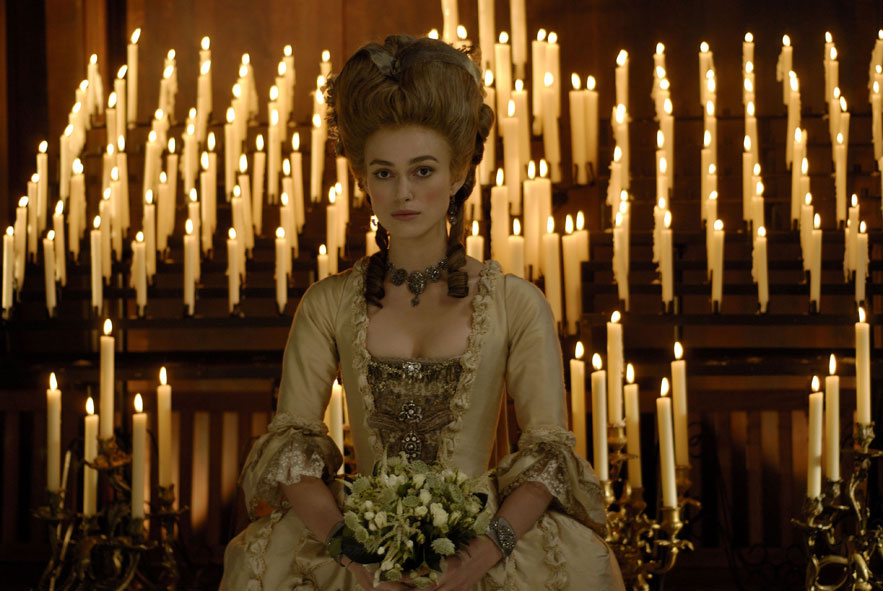 Keira Knightley dans le film The Duchess de Saul Dibb en 2008