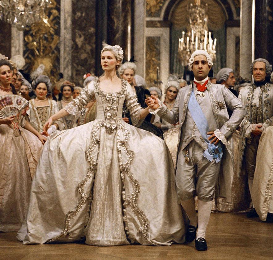 Kirsten Dunst dans le film Marie Antoinette de Sofia Coppola en 2006