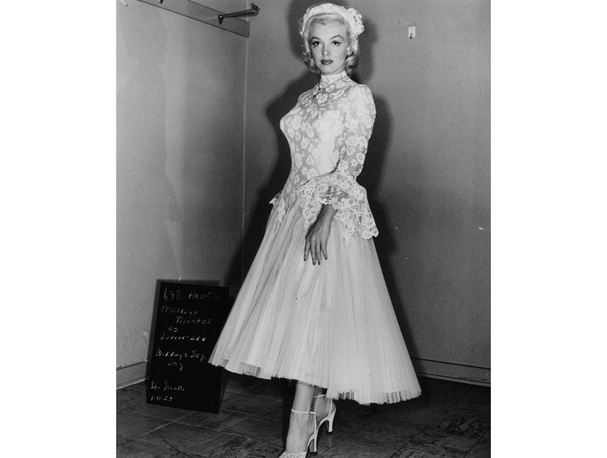 Marylin Monroe dans le film Les hommes préfèrent les blondes de Howard Hawks en 1953