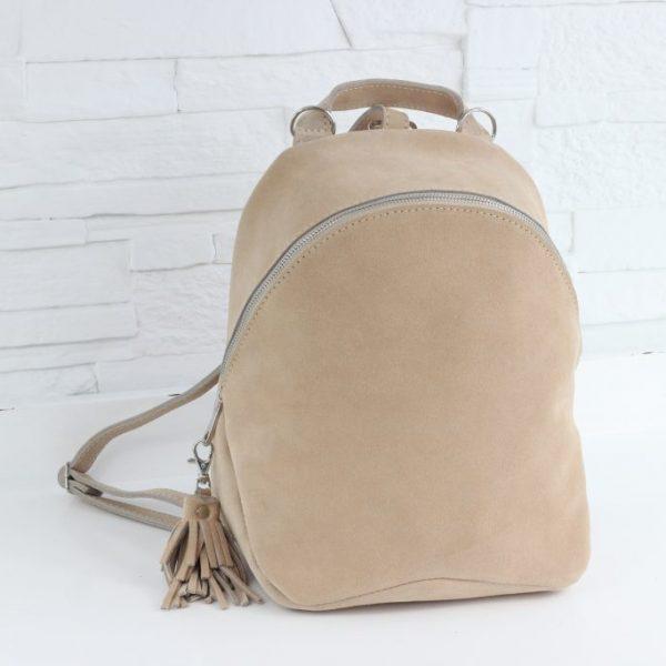 Beżowy plecak