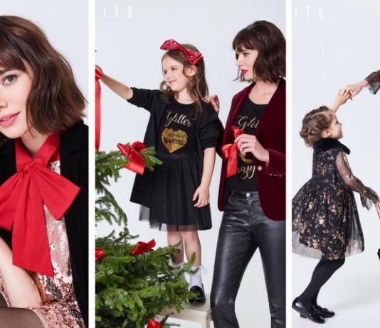 Na czas świątecznych celebracji projektanci MOHITO przygotowali kolekcje dla mamy i córki pełną lśniących materiałów, kardiganów ze zdobieniami i rozkloszowanych sukienek.