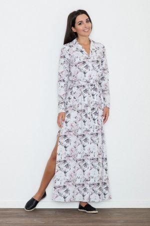 179,00 Zł Długa Sukienka Z Rozcięciem W Kwiaty