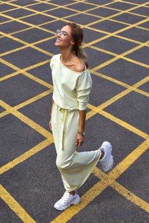 Bawełniana Sukienka Maxi Z Paskiem W Talii - żółta 159,00 Zł