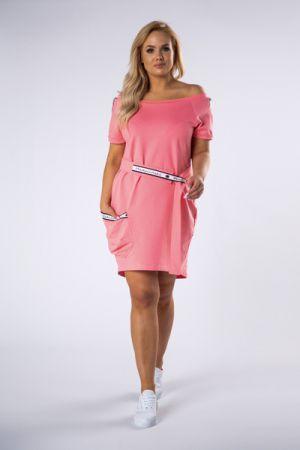 Bawełniana Sukienka Z Wiązaniem W Pasie 188 Zł