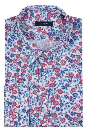 Biała Koszula W Czerwono-granatowe Kwiaty 249,90 Zł