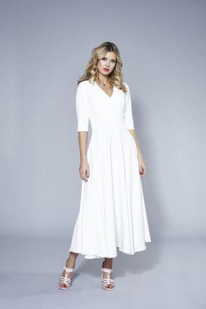 Biała Sukienka SWING Www.swingfashion.pl 499,00 Zł