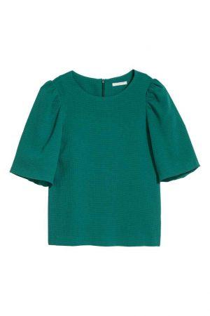 Bluzka Z Bufiastym Rękawem H&M 39,90 Zł