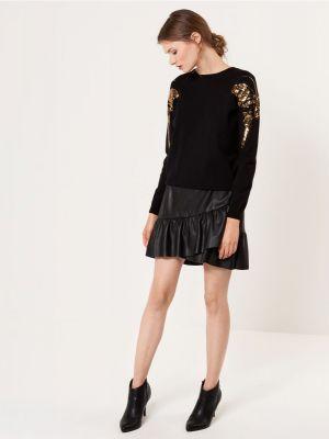 Czarny Sweter Z Cekinową AplikacjąMohito 119,99 Zł