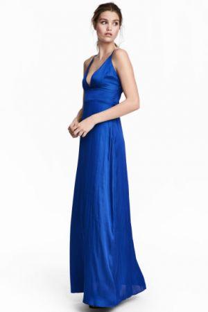 Długa Sukienka Satynowa H&M 229,00 Zł