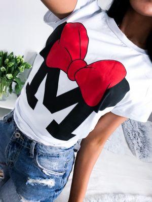 Damski T-shirt Z Modnym Nadrukiem LUSO