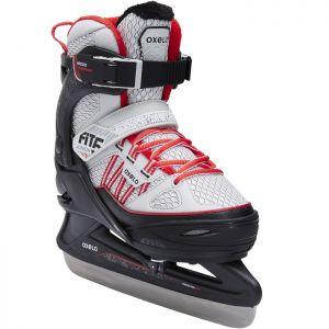 Decathlon, łyżwy Fit500 Szaro-czerwone Oxelo, 199,99 PLN
