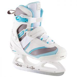 Decathlon, łyżwy Fit 3 Biało-niebieskie Oxelo, 159,99 PLN