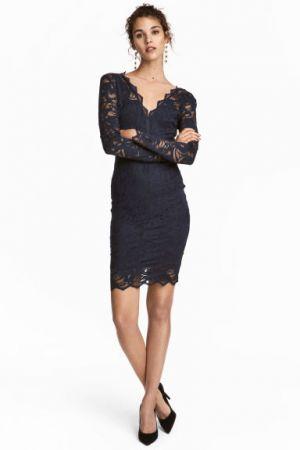 Dopasowana Sukienka Z Koronki H&M 139,90 Zł