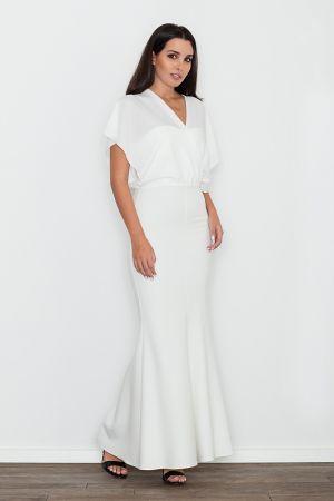 Dopasowana Sukienka Ze Zwiewną Górą - Ecru 209,00 Zł