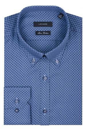 Granatowa Koszula W Geometryczny Wzór 199,90 Zł