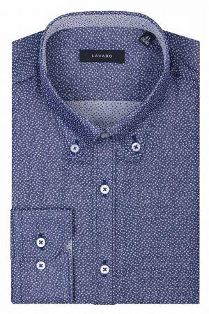 Granatowa Koszula W Szare Kropki 139,90 Zł