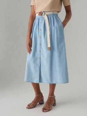 Jeansowa Spódnica Z Wysokim Stanem, Mohito, 129, 99