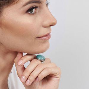 Klasyczny Pierscień Z Niebieskim Kamieniem Nadia 199 Zł Artseko