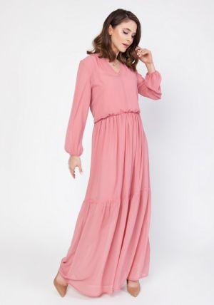 Kobieca Sukienka Maxi Z Szyfonu Www.milenaplatek.pl 299,00 Zł